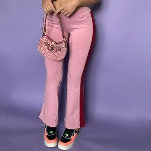 Y2K Pink & Red Flare Pants